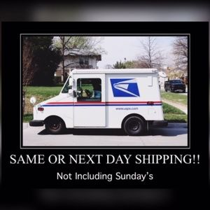Other - I always ship same or next day, not incl Sundays